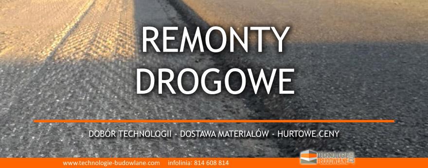 remonty drogowe - materiały