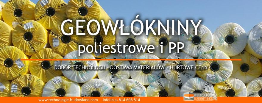 geowlokniny poliestrowe i polipropylenowe