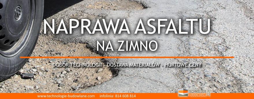 Jak naprawić asfalt na zimno