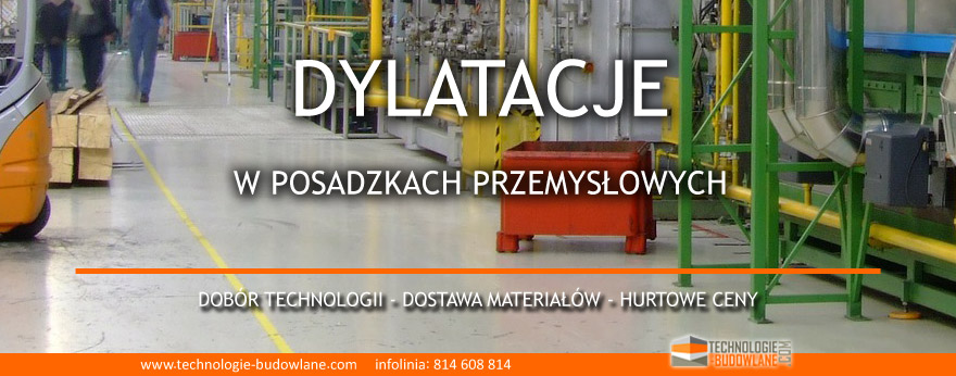 dylatacje w posadzkach przemysłowych