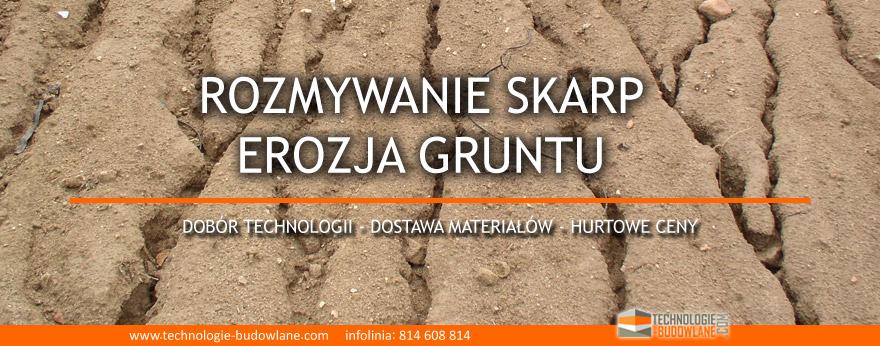rozmywanie skarp i erozja gruntu