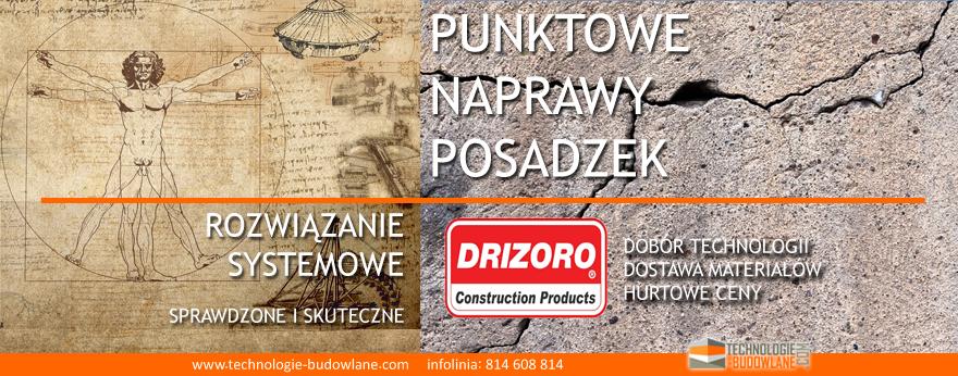 naprawa posadzki betonowej - system Drizoro