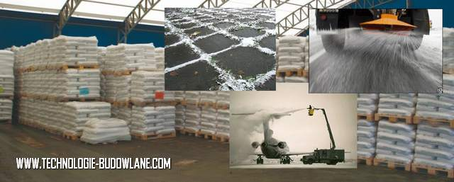 odladzanie i chemiczne odśnieżanie - sol drogowa